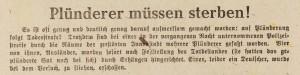 Hildesheimer Zeitung, 27. 03.1945, Stadtarchiv Hildesheim, Best. 500-08 Jg. 1945